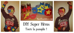 DIY panoplie Super Heros Bouillondidees
