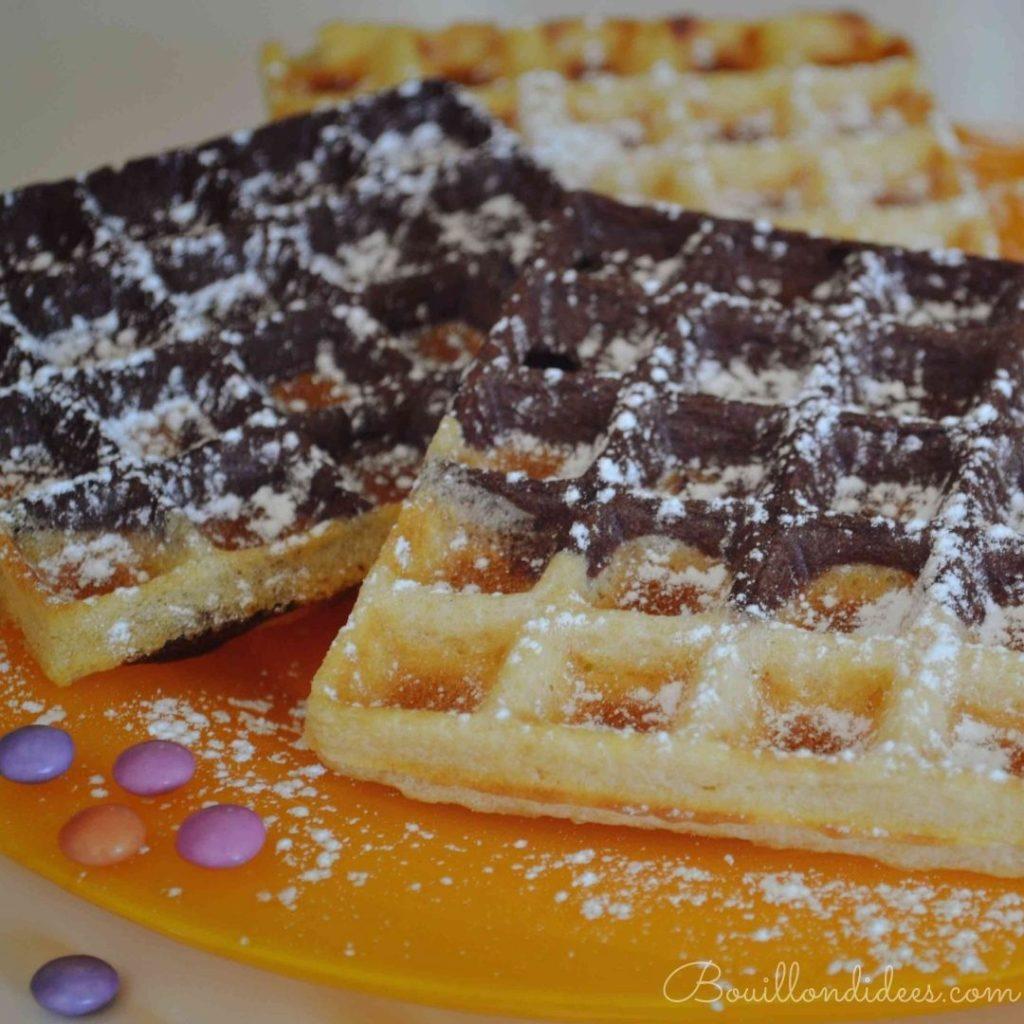 gaufres marbrées vanille chocolat sans GLO