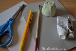 DIY Paques Lapins Lapin boîte à oeufs matériel Bouillondidees