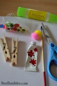 DIY Paques Lapins Lapin pince à linge épingle matériel Bouillondidees