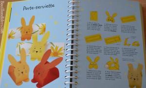 DIY Paques Lapins rond de serviette livre Usborne 50 activités Bouillondidees