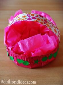 DIY Paques Panier fabriqué avec une assiette carton 2 Bouillondidees