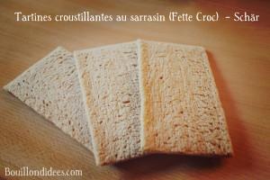 Test nouveautés Schär sans gluten Tartines croustillantes au sarrasin (Fette Croc)  Bouillondidees