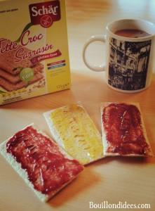 Test nouveautés Schär sans gluten Tartines croustillantes au sarrasin (Fette Croc) petit déjeuner  Bouillondidees