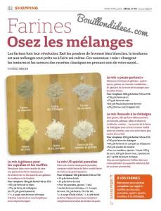 revue presse magazine Regal mars-avril 2015 sans gluten Mix maison mélange farines  Bouillondidees