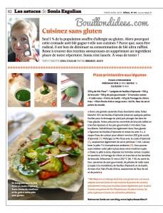 revue presse magazine Regal mars-avril 2015 sans gluten recettes  Bouillondidees