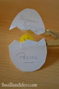 DIY Paques Poussin épingle pince à linge 2 Bouillondidees