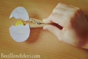 DIY Paques Poussin épingle pince à linge Bouillondidees