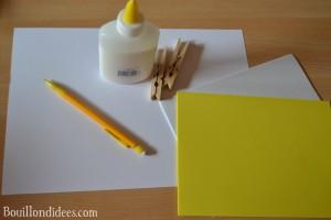 DIY Paques Poussin épingle pince à linge matériel Bouillondidees