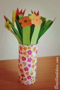 DIY fête des mères Bouquet de fleurs en papier Bouillondidees