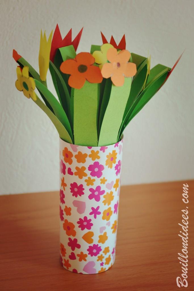 Créer des cadeaux pour la fête des grands-mères : Bouquet de fleurs en papier