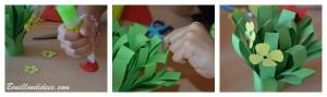 DIY fête des mères Bouquet de fleurs en papier collage Bouillondidees