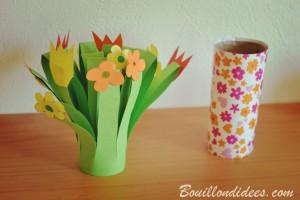 DIY fête des mères Bouquet de fleurs en papier finition Bouillondidees