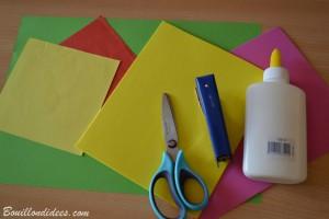DIY fête des mères Bouquet de fleurs en papier (matériel) Bouillondidees