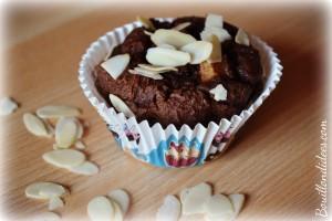 Mini gâteaux choco poires et amandes, sans GLO gluten, lait, oeuf (farine châtaignes, noisettes) Bouillondidees