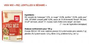 Test produit Lima Vegi Mix mélange céréales sans glo (composition ) Bouillondidees