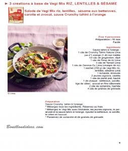 Test produit Lima Vegi Mix mélange céréales sans glo (recette1) Bouillondidees