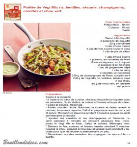 Test produit Lima Vegi Mix mélange céréales sans glo (recette2) Bouillondidees