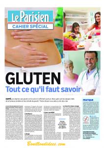 Cahier spécial Gluten Le Parisien Aujourd'hui en France p1 Bouillondidees