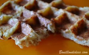 Gaufres de pommes de terre, sans GLO (sans gluten, sans lait, sans oeuf) coupe Bouillondidees