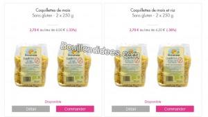 VP sacla Bio Nature showroomprivée pâtes sans gluten Bouillondidees