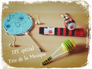 DIY bricolage Fête de la musique Maracas Tambourin Tap Tap Kazoo Bouillondidees
