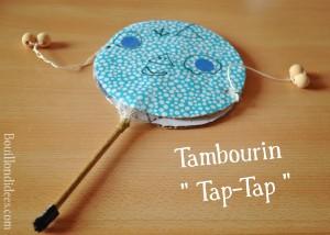 DIY bricolage Fête de la musique Tambourin Tap-Tap Bouillondidees