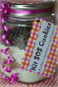 KIT Pot SOS Cookies cadeau fait maison maitresse fête des mères noël étiquette Bouillondidees