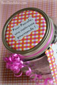 KIT Pot SOS Cookies cadeau fait maison maitresse fête des mères noël bocal Bouillondidees