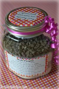 KIT Pot SOS Cookies cadeau fait maison maitresse fête des mères noël mode emploi recette Bouillondidees
