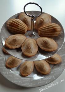 Madeleines à la noisette sans GLO (sans gluten, lait, ni oeuf) gouter Bouillondidees