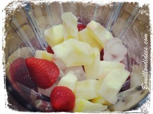 Milkshake Smoothie Pomme Fraises (sans GLO ans gluten, lait, oeuf)  blender glace Bouillondidees