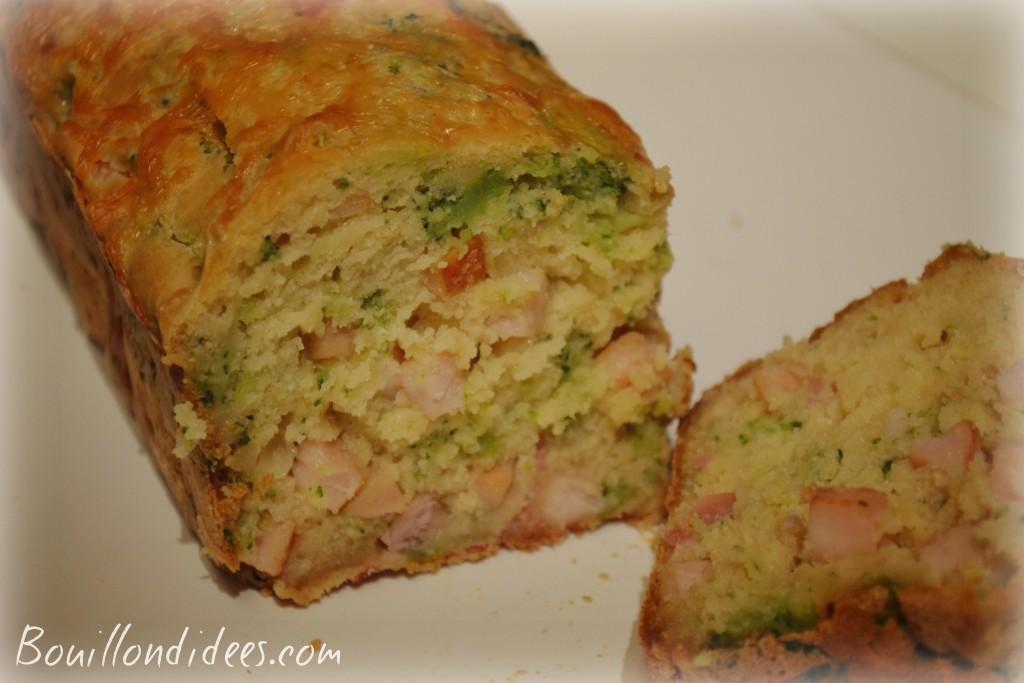 cake sans GLO (sans gluten, lait- PLV ou Lactose, ni oeuf), au tofu soyeux brocolis et dés de poulet Bouillondidees
