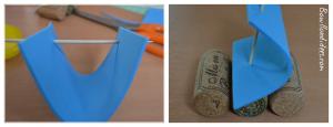 DIY bricolage enfant spécial été vacances extérieur bateaux sur l'eau (voile) Bouillondidees
