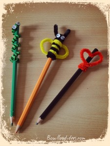DIY Rentrée Customiser vos crayons Animaux cure pipe fil chenilleBouillondidees