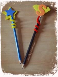 DIY Rentrée Customiser vos crayons Embouts avec feuille mousse et cure pipe Bouillondidees