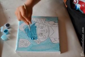 Test tableau Je peins comme un grand Fleurus (loisirs créatifs enfants) Bouillondidees 5