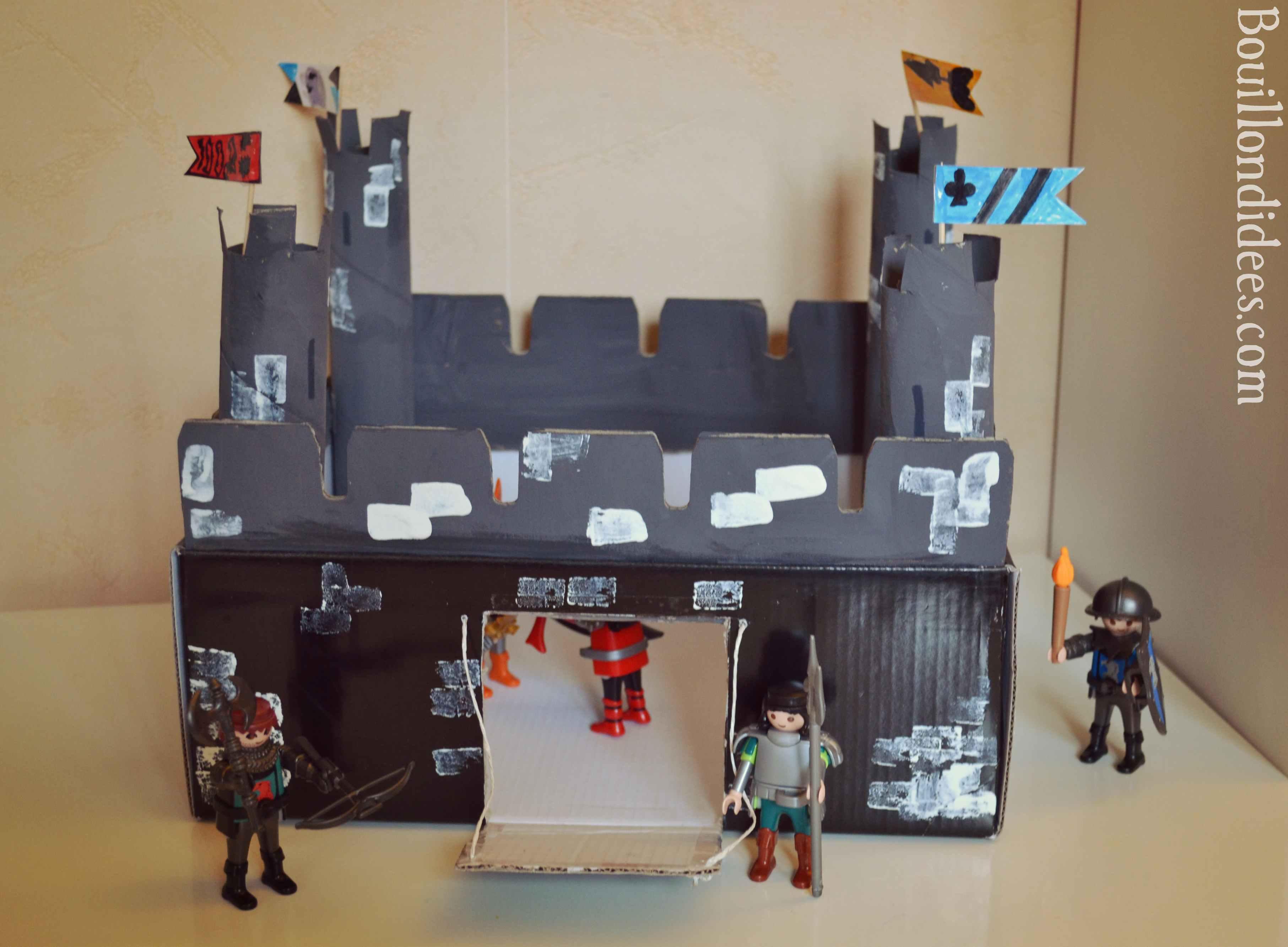 Activité Manuelle Avec Du Papier Peint diy : fabriquer un château-fort - bouillon d'idées