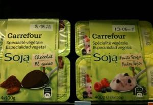 yaourt soja Carrefour