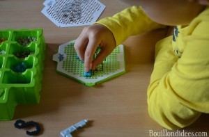 Test Qixels perles repasser eau Bouillondidees