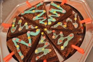Brownie sapin de noël (ou gateau) sans GLO (sans gluten, sans lait, sans oeuf) bouillondidees