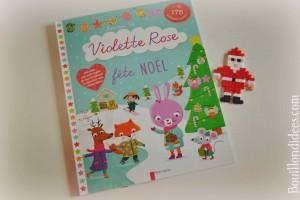 Idées lecture Cahiers d'activités pour attendre Noël Violette Rose fête Noël (Editions Père Castor) Bouillondidees