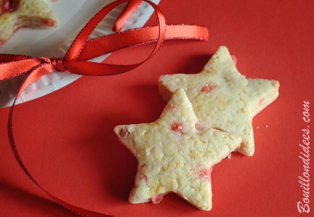 sablés de Noël aux pralines sans GLO (sans gluten, sans lait, lactose ou PLV, sans oeuf) biscuits cadeau gourmand Bouillondidees