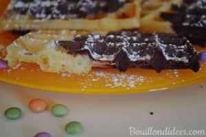 gaufres marbrées choco-vanille sans GLO (sans gluten, sans lait, sans oeuf) croustillantes et moelleuses Bouillondidees