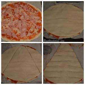 Le pizzapin ou pizza sapin (croustipate) sans GLO (sans gluten, sans lait, sans oeuf) - apéro de Noël