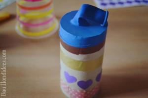 canons à pompons (DIY enfants pour carnaval, nouvel an, fêtes, 14 juillet) avec un ballongobelet ou rouleau papier toilette montage Bouillondidees