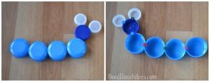 Clip It (jeu créatif avec bouchons recyclés) chenille Bouillondidees