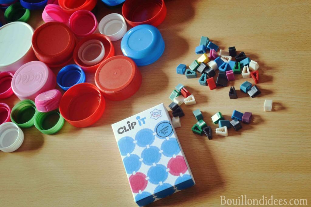 Clip It (jeu créatif avec bouchons recyclés) Bouillondidees