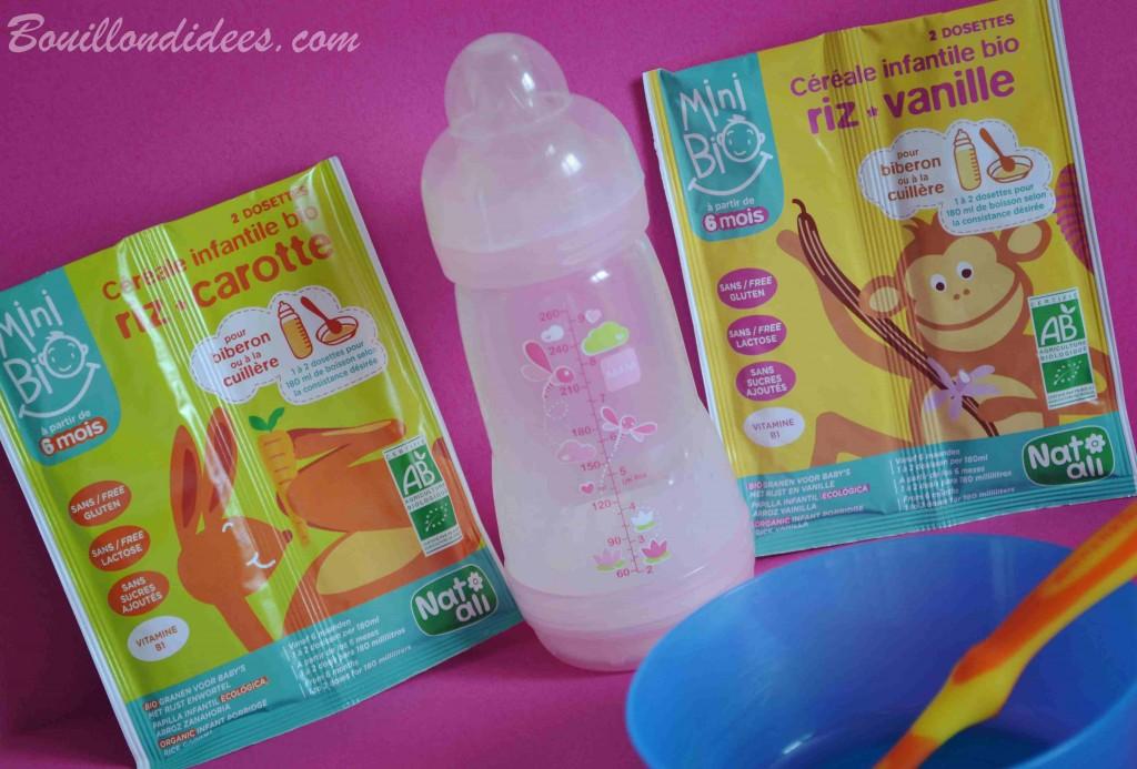 Mini Bio, céréales infantiles Bio et sans gluten NATALI Bouillondidees