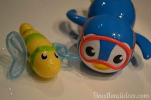 Munchkin, marque américaine de puériculture (jouets pour le bain) Concours Bouillon d'idées - pinguoin nageur et insectes nageurs